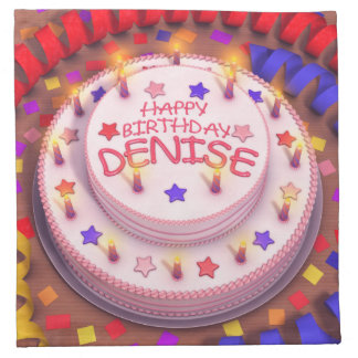 Denise's Birthday Cake Napkins