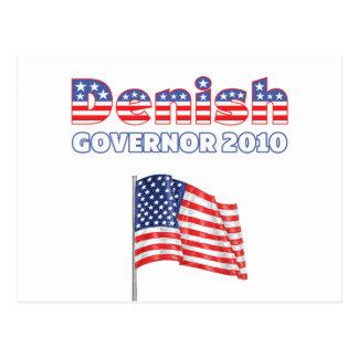 Denish Patriotic American Flag 2010 Elections Postcard