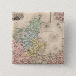 Denmark 2 15 cm square badge