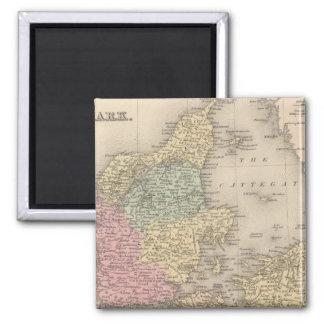 Denmark 5 square magnet