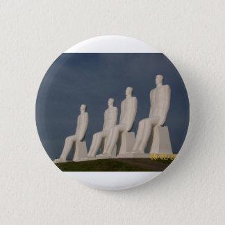 Denmark 6 Cm Round Badge
