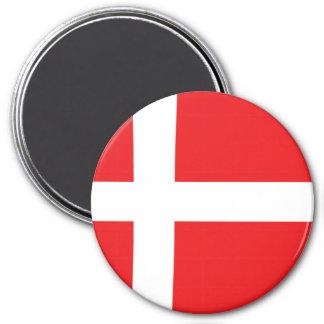 Denmark 7.5 Cm Round Magnet
