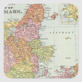 Denmark and Iceland Square Sticker