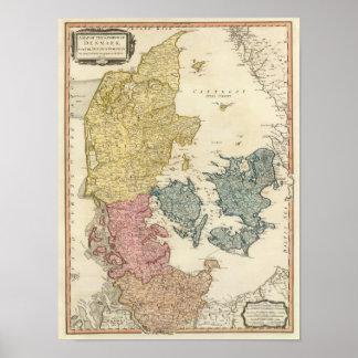 Denmark Atlas Map Poster