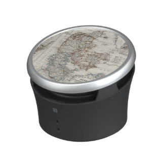 Denmark Atlas Map with 5 inset maps Bluetooth Speaker