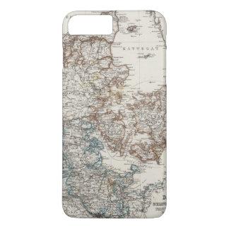Denmark Atlas Map with 5 inset maps iPhone 8 Plus/7 Plus Case