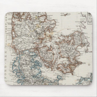 Denmark Atlas Map with 5 inset maps Mouse Mat