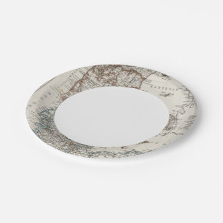 Denmark Atlas Map with 5 inset maps Paper Plate