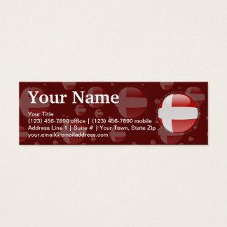 Denmark Bubble Flag Mini Business Card