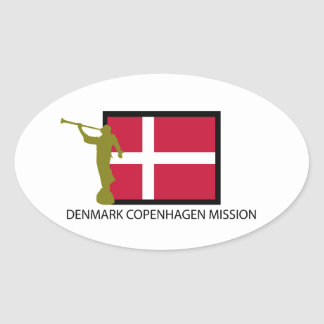 DENMARK COPENHAGEN MISSION LDS CTR OVAL STICKER