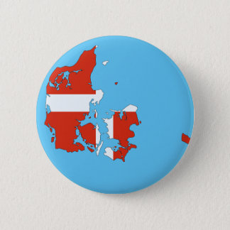 Denmark country 6 cm round badge