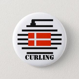 Denmark Curling 6 Cm Round Badge