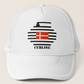 Denmark Curling Trucker Hat
