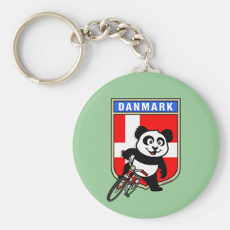Denmark Cycling Panda Basic Round Button Key Ring