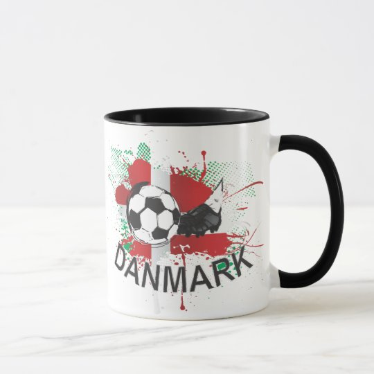 Denmark Danmark football and soccer cleat design Mug