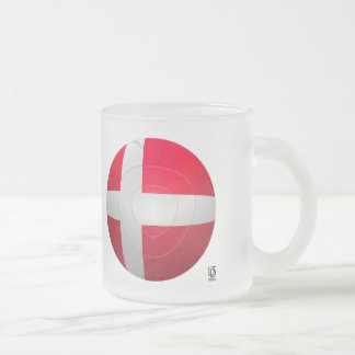 Denmark - De Rød-Hvide Football Frosted Glass Mug