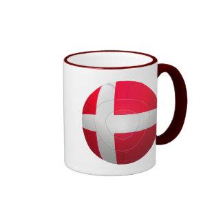 Denmark - De Rød-Hvide Football Ringer Mug