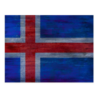 Denmark distressed Danish flag Postcard