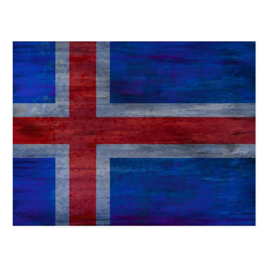 Denmark distressed Danish flag Postcard