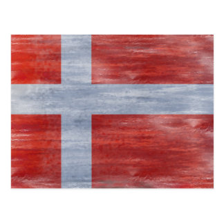 Denmark distressed flag postcard