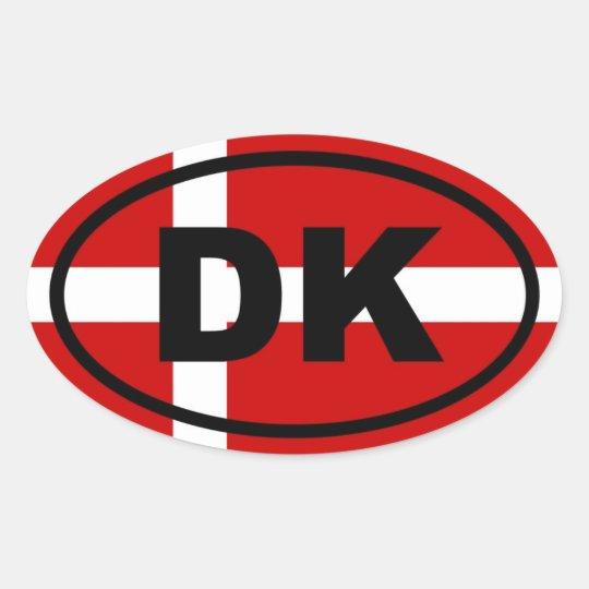 Denmark - DK - European Oval Sticker