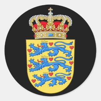 denmark emblem classic round sticker