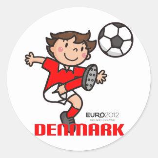 Denmark - Euro 2012 Round Sticker