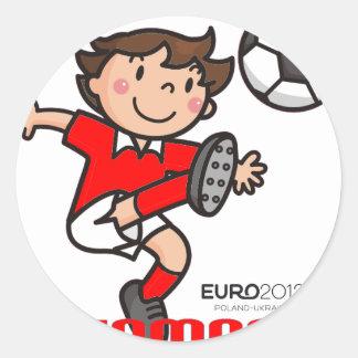 Denmark - Euro 2012 Round Stickers