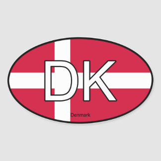 Denmark Euro Sticker