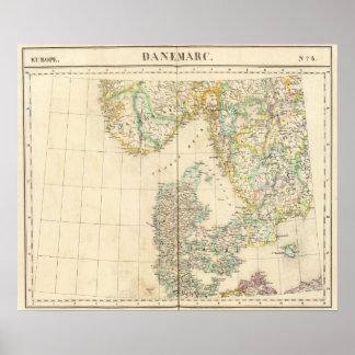 Denmark, Europe 8 Poster