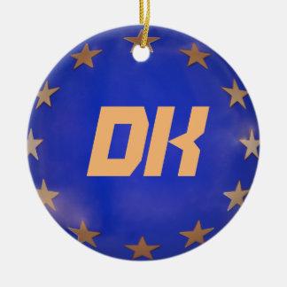 Denmark European Union Christmas Ornament