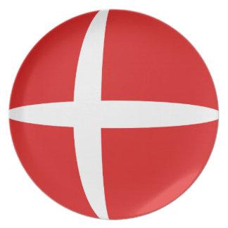 Denmark Fisheye Flag Plate