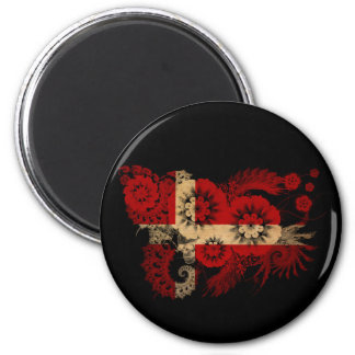 Denmark Flag 6 Cm Round Magnet