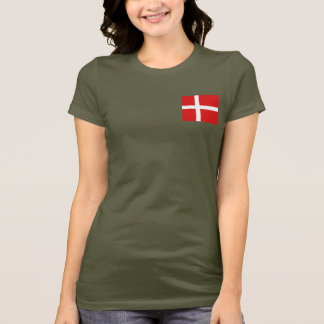 Denmark Flag and Map dk T-Shirt