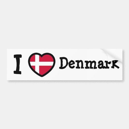 Denmark Flag Bumper Stickers