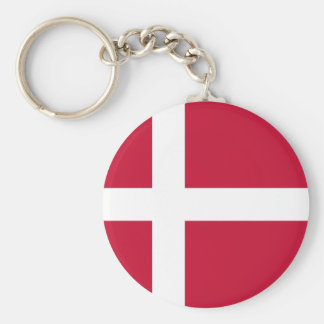 Denmark Flag Button Keychain