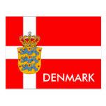 Denmark Flag & Coat of Arms Postcard!