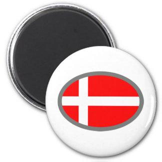 Denmark Flag Cool Design! 6 Cm Round Magnet