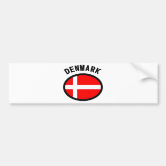 Denmark Flag Cool Design! Bumper Sticker