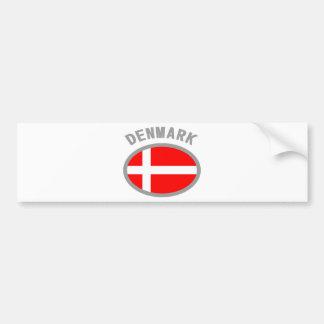 Denmark Flag Cool Design! Bumper Stickers