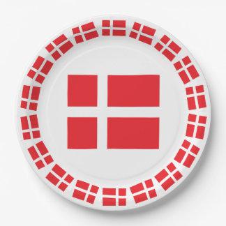 DENMARK FLAG DANNEBROG PAPER PLATE
