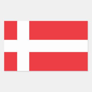 DENMARK FLAG DANNEBROG RECTANGULAR STICKER