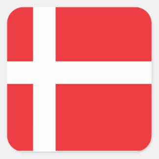 DENMARK FLAG DANNEBROG SQUARE STICKER