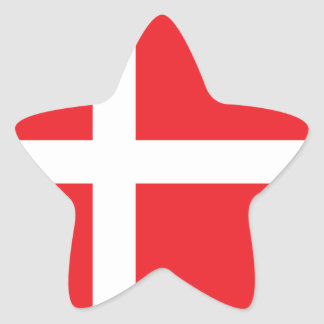 DENMARK FLAG DANNEBROG STAR STICKER