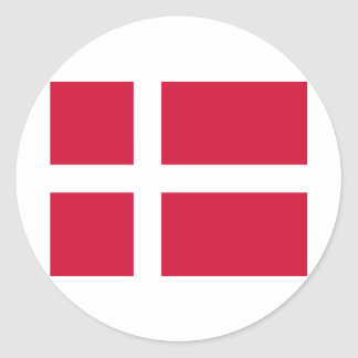 Denmark Flag Design Round Sticker
