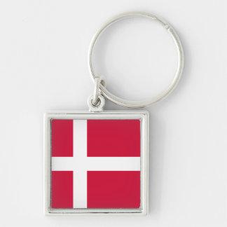 Denmark Flag DK Key Ring