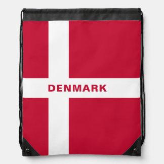 Denmark Flag Drawstring Backpack