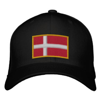 Denmark Flag Embroidered Hat
