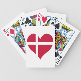 Denmark Flag Heart Bicycle Playing Cards