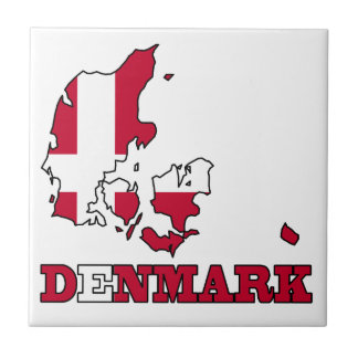 Denmark Flag in Map Tile